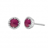 July Birthstone Stud Earrings.  List Price: $135    Our Price: $108