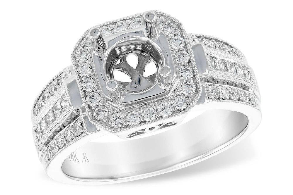 L7221  - 0.61 ct Set In 14K White Gold.  List Price: $3,981     Our Price: $3,184