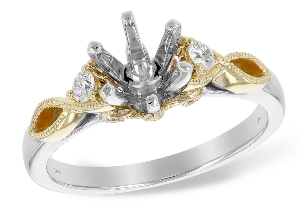 L7673  - 0.12 ct Set In 14K White & Yellow Gold.  List Price: $1,308    Our Price: $999