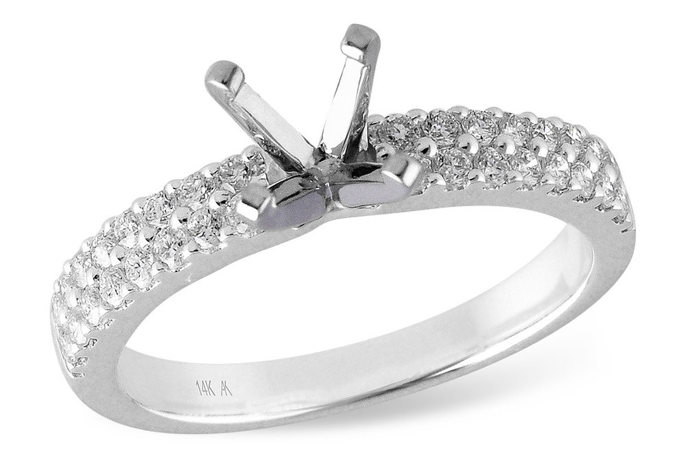 LR121-41  - 0.41 ct Set In 14K White Gold.  List Price: $2,259    Our Price: $1,807