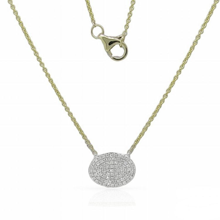 16637N  - 0.23 ct Set In A 14K Yellow Gold Necklace.    List Price: $1,050      Our Price: $840