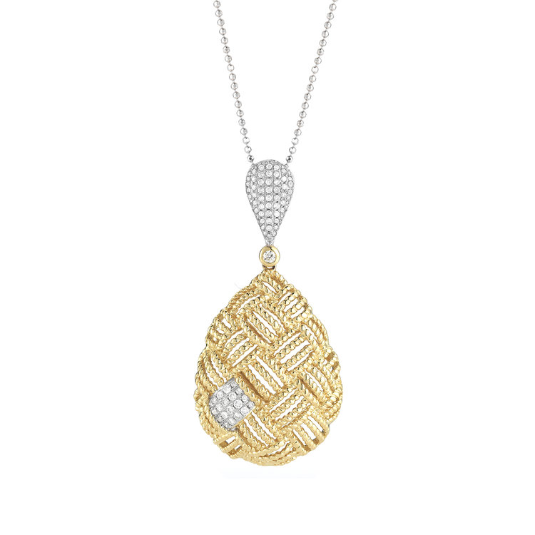 EP01163  - 0.40 ct Set In 14K Yellow Gold Necklace.      List Price: $2,850      Our Price: $2,280