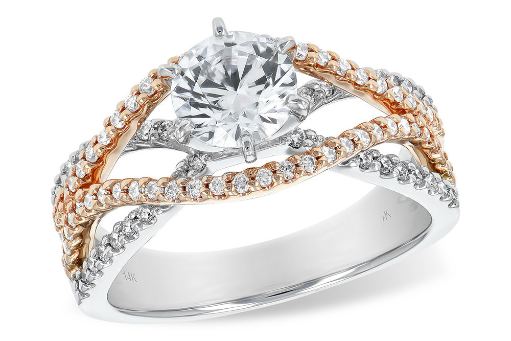 L7336  -  0.52 ct Set In 14K White & Rose Gold.    List Price: $3,102      Our Price: $2,481