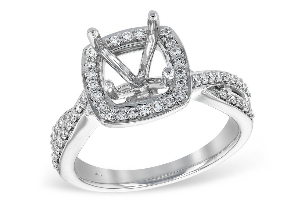 L7552  - 0.38 ct Set In 14K White Gold.    List Price: $2,406      Our Price: $1,924