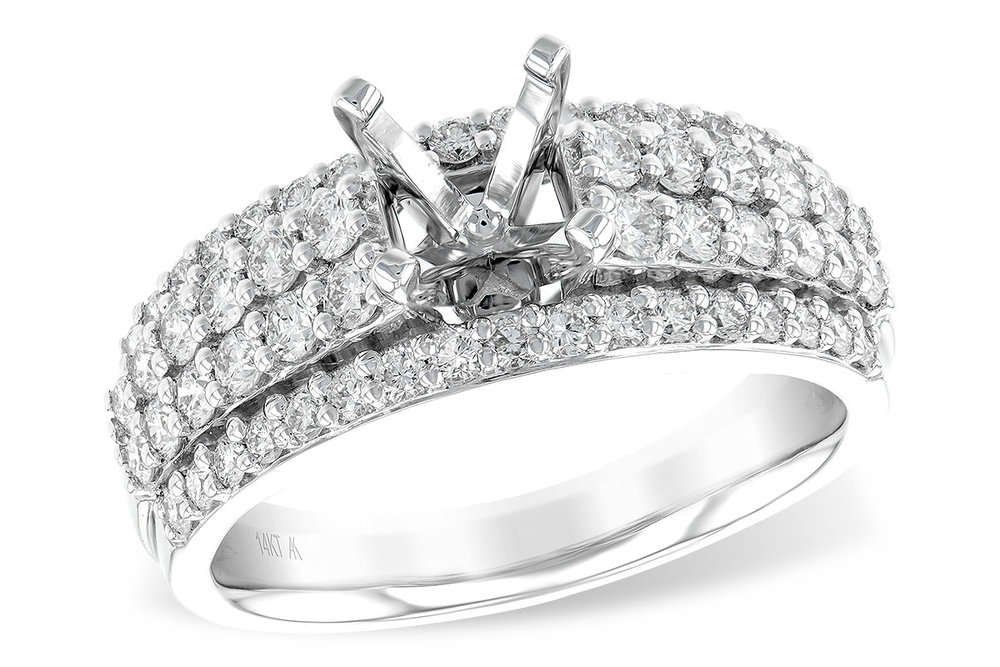 L7607  - 0.98 ct Set In 14K White Gold.    List Price: $4,695      Our Price: $3,756