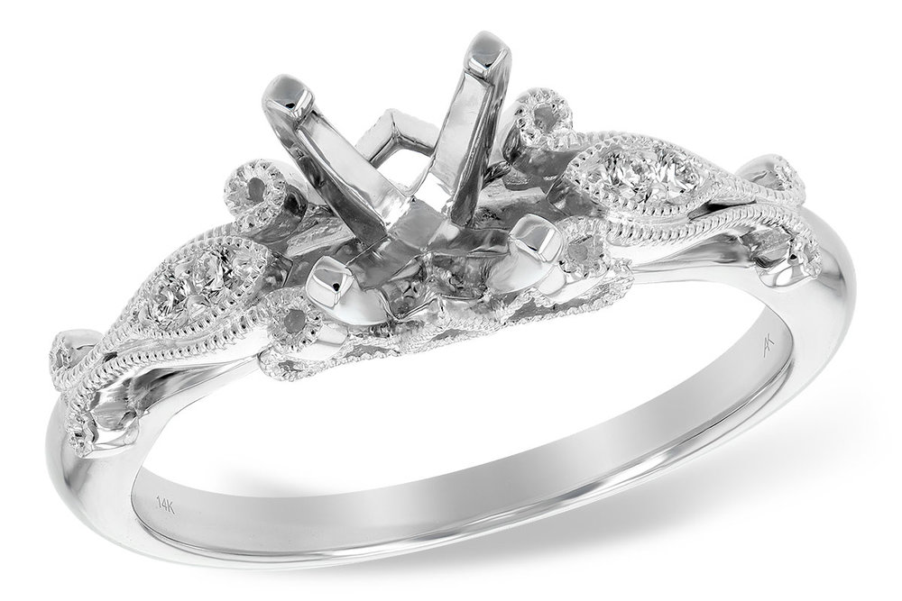 L7675  - 0.05 ct Set In 14K white Gold.    List Price: $1,071      Our Price: $856