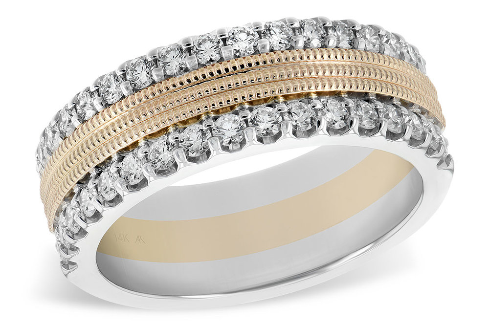 X17407  - 0.68 ct Set In A 14K White & Yellow Gold Band.    List Price: $4,053      Our Price: $3,242