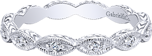 LR4381W45JJ    –   0.11 ct Set In 14 K White Gold.    List Price: $475      Our Price: $380