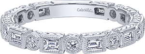 LR4380W44JJ    – 0.51 ct Set In 14K White Gold.    List Price: $1,550      Our Price: $1,240