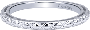 LR4583W4JJJ   - 14K White Gold Band.    List Price: $300      Our Price: $240