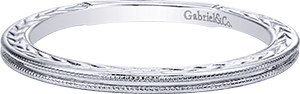 LR4909CW4JJJ    – 14K White Gold Band.    List Price: $220      Our Price: $176