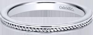 LR5678W4JJJ  – 14K White Gold Band.  List Price: $340