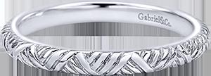 LR5679W4JJJ  – 14K White Gold Band.  List Price: $350