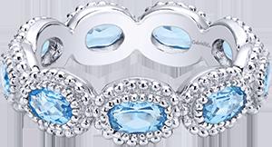 LR5930-7SVJBT  – Blue Stone Set In Sterling Silver Band.  List Price: $150