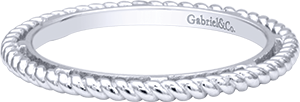 LR5989-&SVJJJ    – Sterling Silver Band.    List Price: $75      Our Price: $60