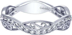 LR6317W45JJ    – 0.23 ct Set In 14K White Gold.    List Price: $680      Our Price: $544