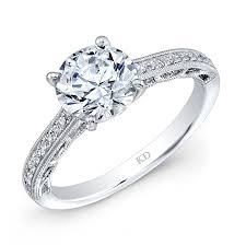 LRD10829  - 0.11 ct Set In 18K White Gold.    List Price: $  1,545      Our Price: $1,236