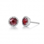 January Birthstone Earrings.  List Price: $135    Our Price: $108