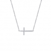 Sideways Cross Necklace.    List Price: $120      Our Price: $96