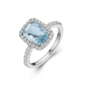 Aqua Fashion Ring.    List Price: $255      Our Price: $204
