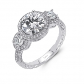 Three Stone Halo Ring.    List Price: $200      Our Price: $160