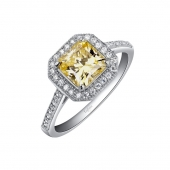 Yellow Center Halo Ring.    List Price: $140      Our Price: $112