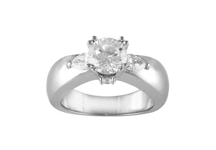 4958  - 0.55 ct Set In 14K White Gold.    List Price: $3,185      Our Price: $2,388