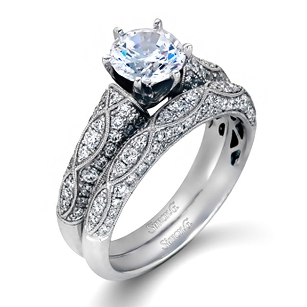 MR1834  - 0.50 ct Set In 18K White Gold.    List Price: $2,900       Our Price: $2,350