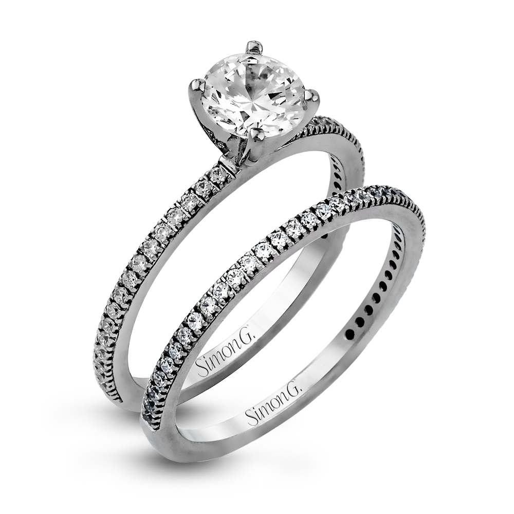 PR108  - 0.30 ct Set In 18K White Gold.    List Price: $2,200       Our Price: $1,760 (for the set)