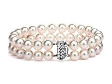 "7.5"" Akoya Double Strand Bracelet.    Price Range: $275-$400"