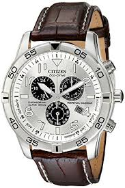 BL5470  - Eco-Drive Chronograph With Perpetual Calendar And Brown Leather Strap.    List Price: $395      Our Price: $316