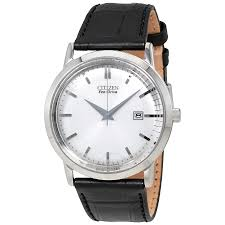 BM7190  - Eco Drive Analog Stainless Steel With Black Leather Strap.    List Price: $235      Our Price: $188