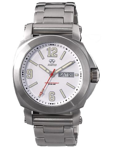 48005  - Fermi Superluminova White Matte Dial With Stainless Steel Band.    List Price: $450      Our Price: $360