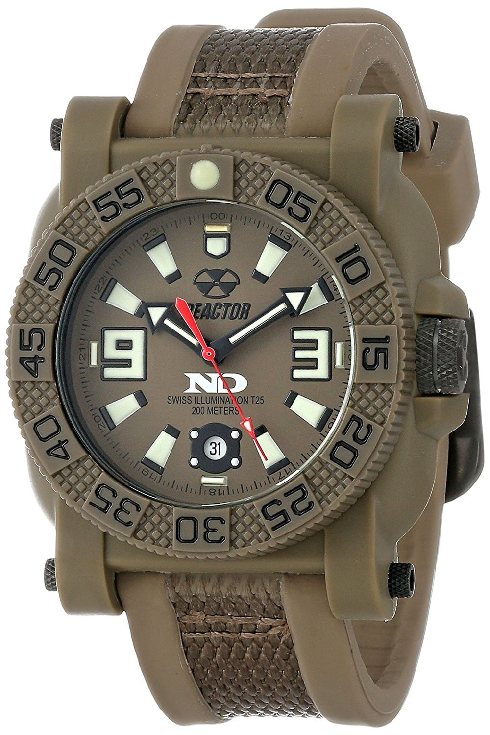 73821  -    Gryphon Never Dark Stainless Steel & Nitride Polymer Shell With Two Toned Rubber Strap.        List Price: $350       Our Price: $280