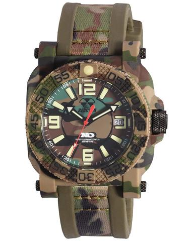 73824  -   Gryphon Never Dark Stainless Steel & Nitride Polymer Shell With Camo Rubber Strap.        List Price: $350       Our Price: $280