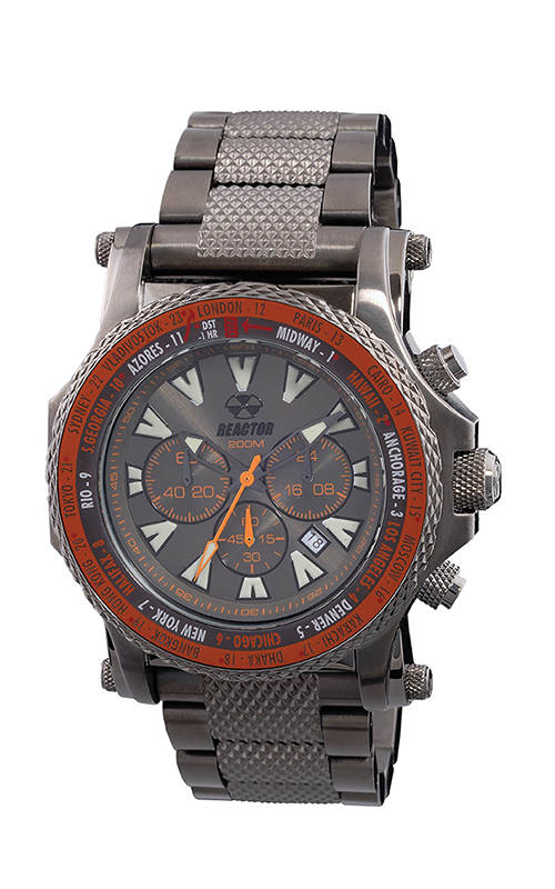 91610  - Proton World Time Function With Dark Marine Grade Stainless Steel Casing & Band.    List Price: $650      Our Price: $520