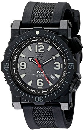 43801  - Titan Never Dark Stainless Steel & Nitride Polymer Shell With Swiss Quartz Movement & Nylon/Rubber Strap.    List Price: $500      Our Price: $400