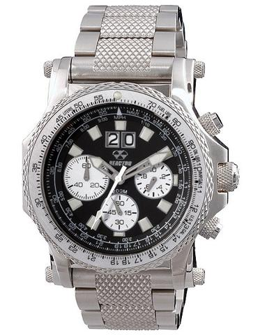 81001  - Valkyrie Pilot Chronograph With E6B Slide Rule Bezel & Stainless Steel Band.    List Price: $750      Our Price: $562