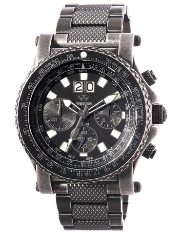 81601  - Valkyrie Chronograph With E6B Slide Rule Bezel & Black Stainless Steel Band.  List Price: $750    Our Price: $562