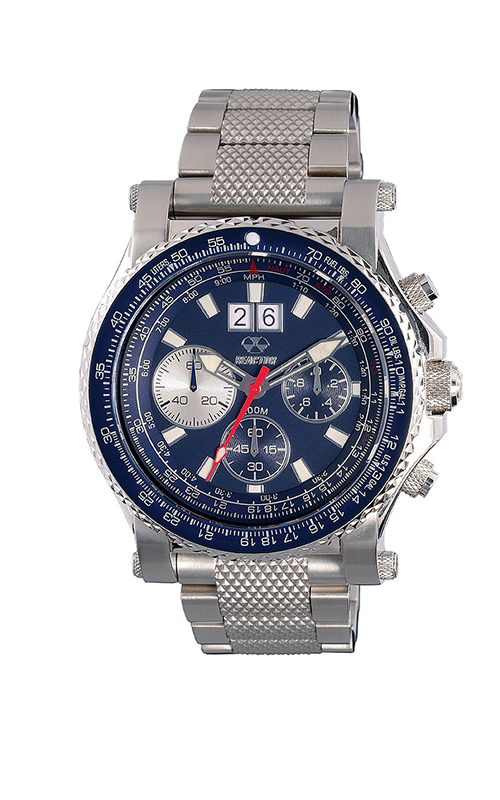 81003  - Valkyrie Pilot Chronograph With E6B Slide Rule Bezel & Stainless Steel Band.    List Price: $750      Our Price: $562