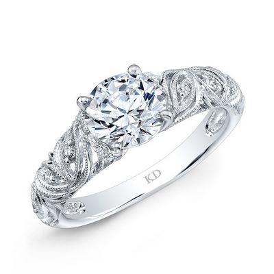 ARD1467  - 0.15 ct Set In 18K White Gold.  List Price: $1,500    Our Price: $1,199
