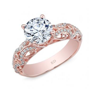 GDR7501  - 0.19 ct Set In 18K Rose Gold.  List Price: $2,116    Our Price: $1,692