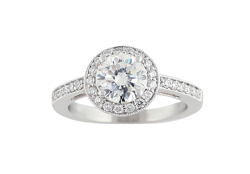 4537  - 0.26 ct Set In 14K White Gold.  List Price: $1,795    Our Price: $1,436