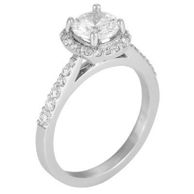 5115E  - 0.36 ct Set In 14K White Gold.  List Price: $1,795    Our Price: $1,436