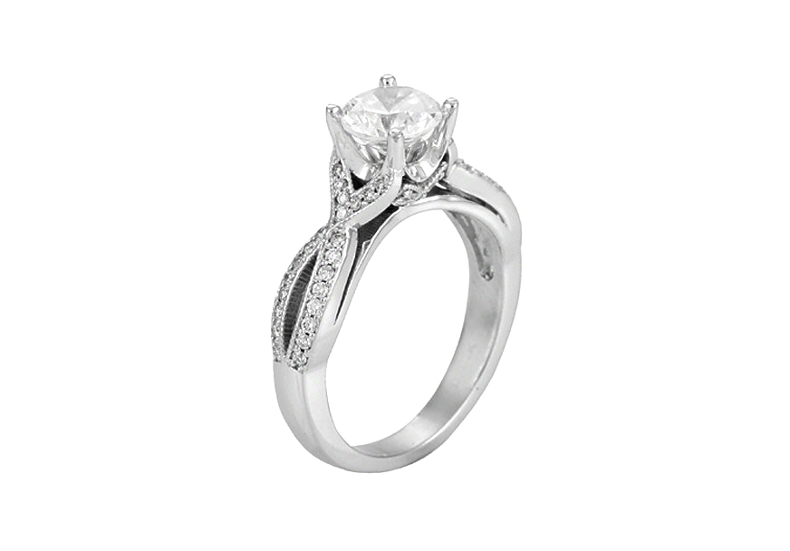 5393E-1CT  - 0.26 ct Set In 14K White Gold.  List Price: $2,128    Our Price: $1,699