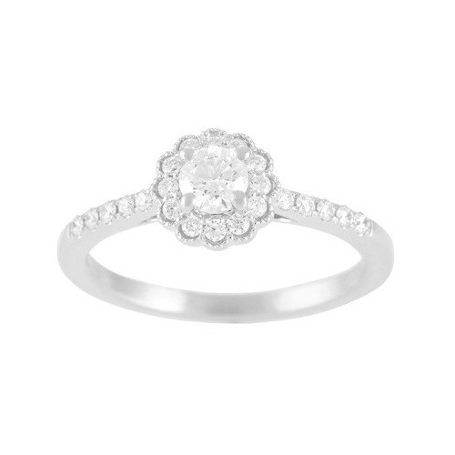 5660-25  - 0.23 ct F-si1, Mntg .19 ct Set In 14K White Gold.  List Price: $1,750    Our Price: $1,399