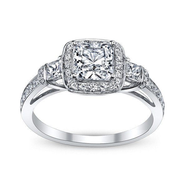 MR1518D  - 0.23 ct Set In 18K White Gold.  List Price: $2,750     Our Price: $2,199