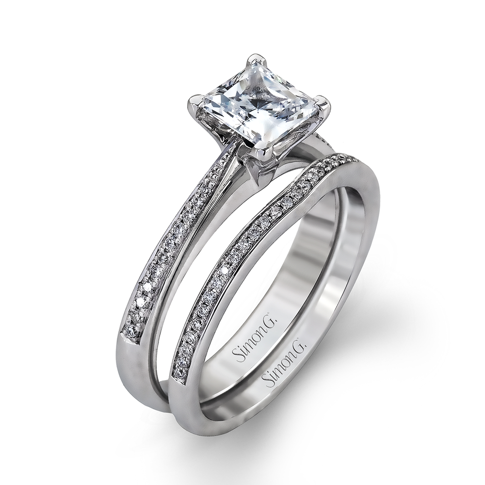 MR1507  - 0.18 ct Set In 18K White Gold.  List Price: $2,086   Our Price: $1,668 (for the set)