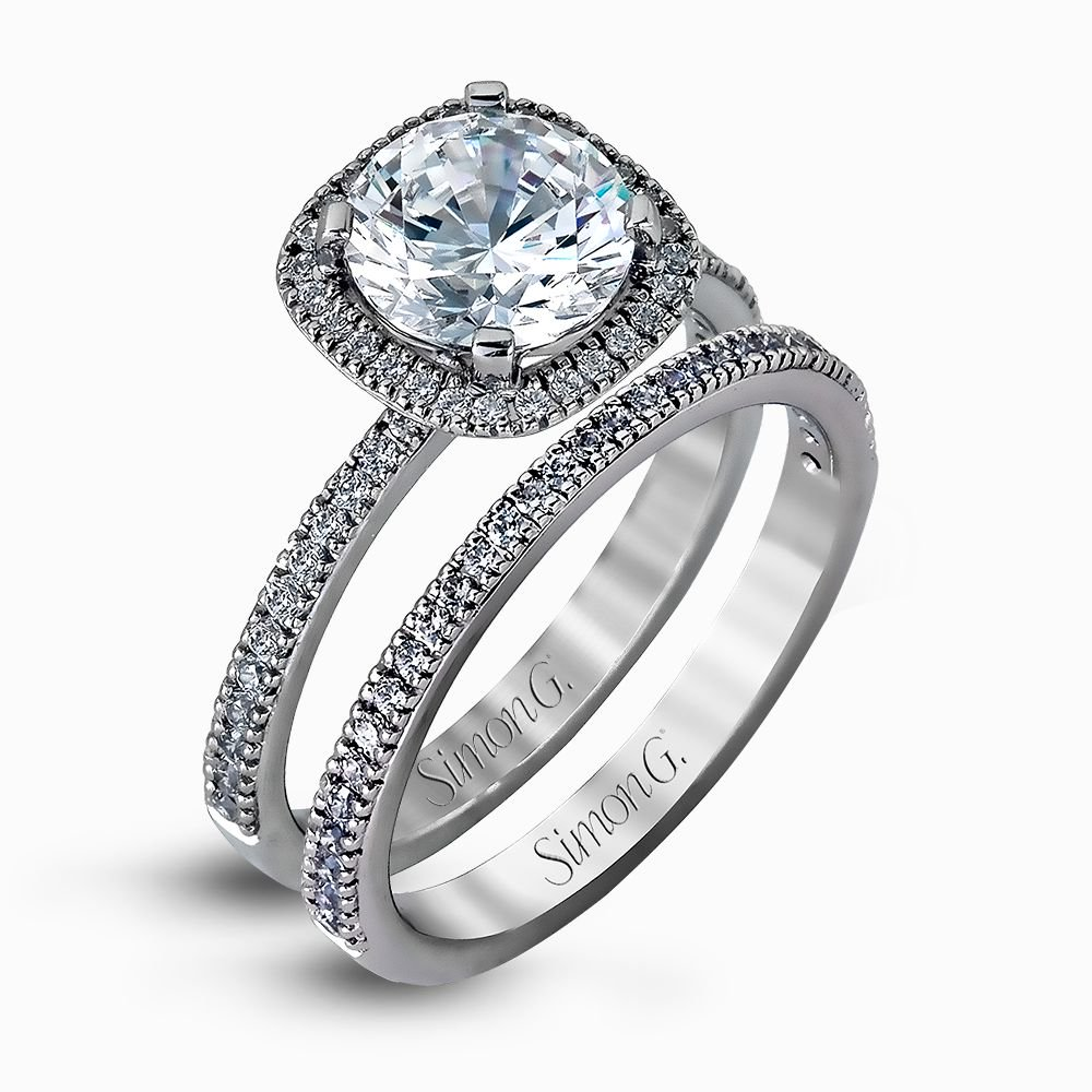 MR1840  - 0.50 ct Set In 18K White Gold.  List Price: $3,300    Our Price: $2,640 (for the set)