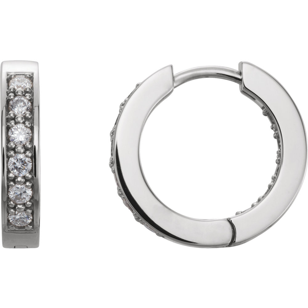 Channel Hoops  -1/2 ctw Diamond Channel Hoops.    Starting At   $999